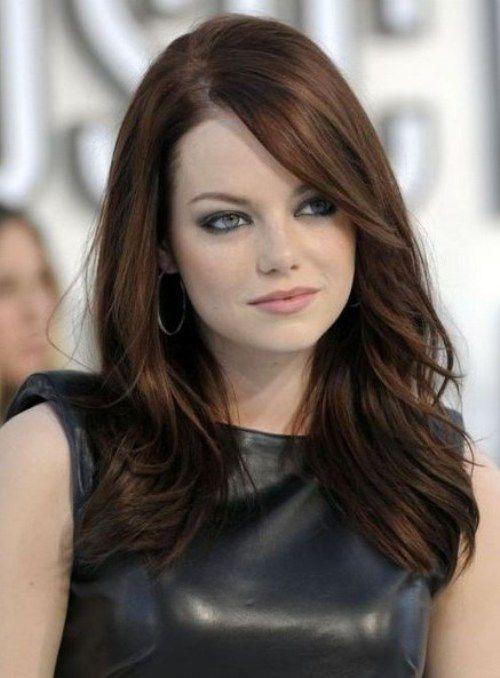 Emma-Stone-Medium-Brunette-Hairstyles